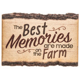 Farm Memories Wood Magnet