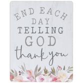 Telling God Thank You Wood Magnet