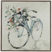Floral Bike Canvas Wall Decor
