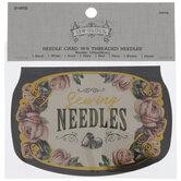 Needle Card With Threaded Needles