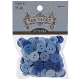 Blue Buttons - 13mm