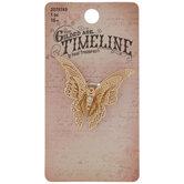 Layered Rhinestone Butterfly Pendant