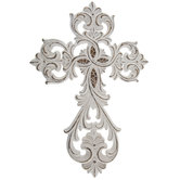 White With Cutouts Wall Cross