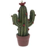 Flowering Cactus Ornament