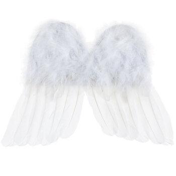 "White Infant Angel Wings - 12"""
