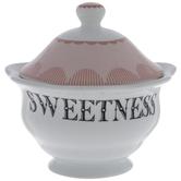 White & Pink Sweetness Sugar Dish