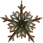 Snowflake With Berries Ornament