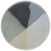 Blue & Gray Color Striped Round Knob