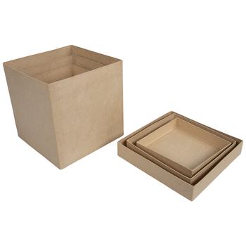 Square Paper Mache Boxes