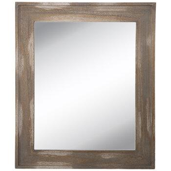 Beveled Wood Wall Mirror