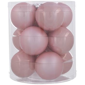 Pink Matte & Shiny Ball Ornaments