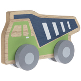 Green & Blue Wood Dump Truck