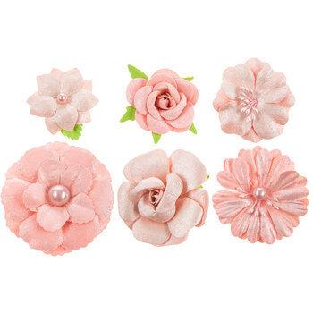 Glitter Paper Flower Embellishments