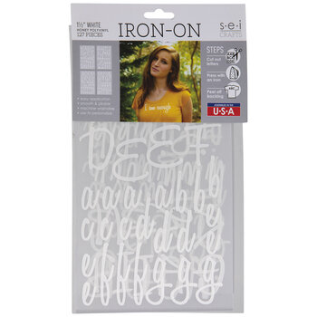 White Vinyl Letter Iron-On Applique Alphabet