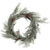 Frosted Pine & Berries Candle Ring