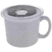 White Hexagon Soup Mug