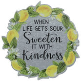 Sweet Lemon Wreath Metal Wall Decor