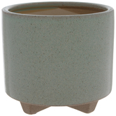 Green Speckled Flower Pot
