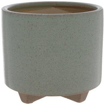Green Speckled Flower Pot
