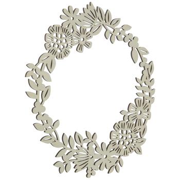 Floral Wreath Wood Shape