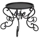Swirl Metal Plate Candle Holder