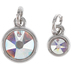 Swarovski Crystal AB Round Faceted Charms
