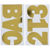 Gold Foil Franklin Alphabet Stickers