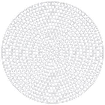 "Round Plastic Canvas Shapes - 4 1/2"""