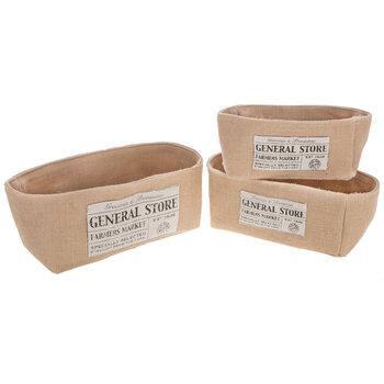 General Store Burlap Basket Set