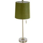 Green Velvet Lamp