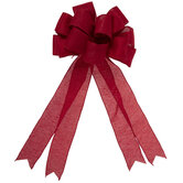 Red Fabric Bow