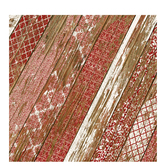 "Red Wood Fence Scrapbook Paper - 12"" x 12"""
