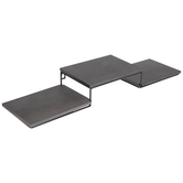 Gray Three Platform Wood Wall Shelf