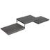 Gray Three Platform Wood Wall Shelf
