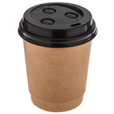 Kraft Paper Coffee Cups With Lids