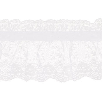 White Lace With Ribbon Trim