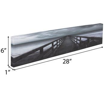 Black & White Pier Canvas Wall Decor
