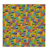 Fuzzy Monsters Gift Wrap