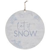 Let It Snow Wood Wreath Embellishment
