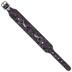 Purple Embossed Rose Leather Bracelet