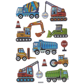 Construction Vehicle Puffy Stickers