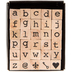 Lowercase Alphabet Vintage Type Rubber Stamps