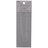 Sterling Silver Paper Clip Chain Necklace