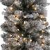 Ultra Slim Flocked Brewster Pine Pre-Lit Christmas Tree - 5'