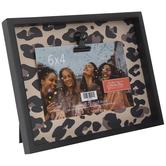 "Leopard Print Wood Clip Frame - 6"" x 4"""