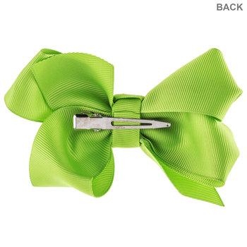 Apple Green Grosgrain Bow Hair Clip