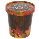 Thankful & Blessed Snack Cups With Lids