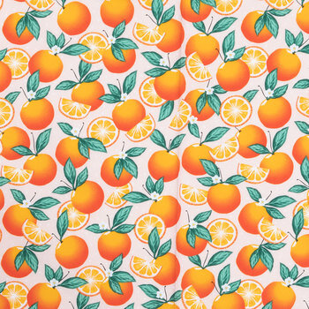 Orange On Dot Apparel Fabric