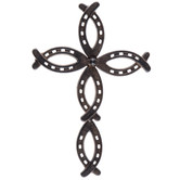 Horseshoe Metal Wall Cross