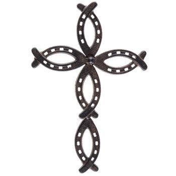 Horseshoe Metal Wall Cross